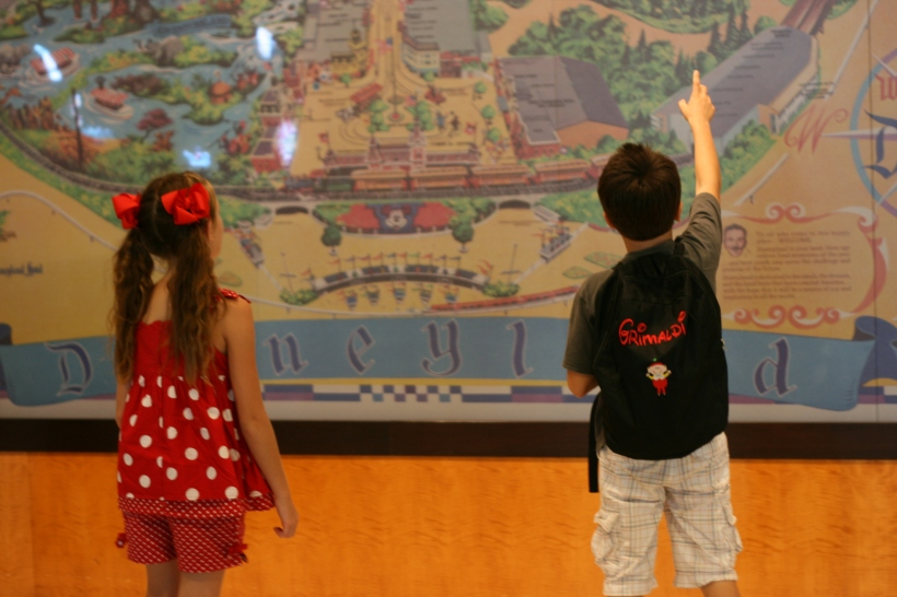 Interactive map of Disneyland inside the hotel.