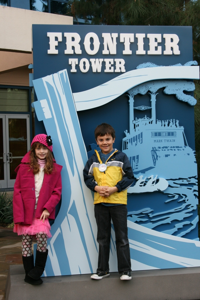 The Frontier Tower at the Disneyland Hotel.