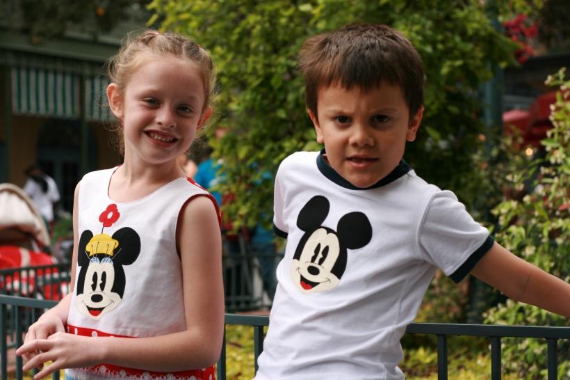 Appliqued shirts for a Disney trip.