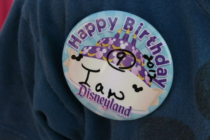 Happy Birthday buttons don't go unnoticed by Cast Members.