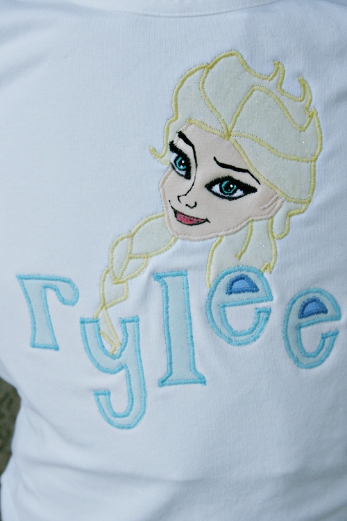 Elsa Frozen Tee from Painted Butterfly Studio