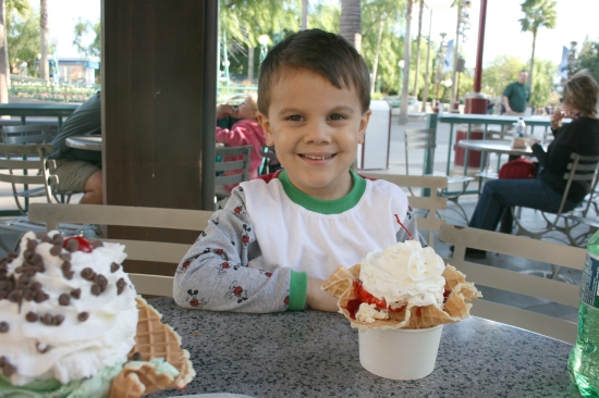 Sundaes at California Adventure {Saving up for Disney}