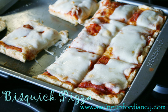 DIY Bisquick to make pizzas! So cheap and quick {Saving up for Disney}
