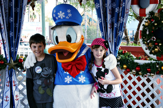 donald duck decked out in snowflakes for winter saving up for disney - Characters In Christmas Vacation