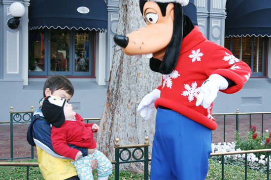 Winter wear on the characters at Disneyland {Saving Up for Disney}