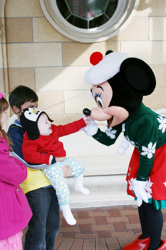 Minnie is decked out in her winter wear at Disneyland {Saving Up for Disney}