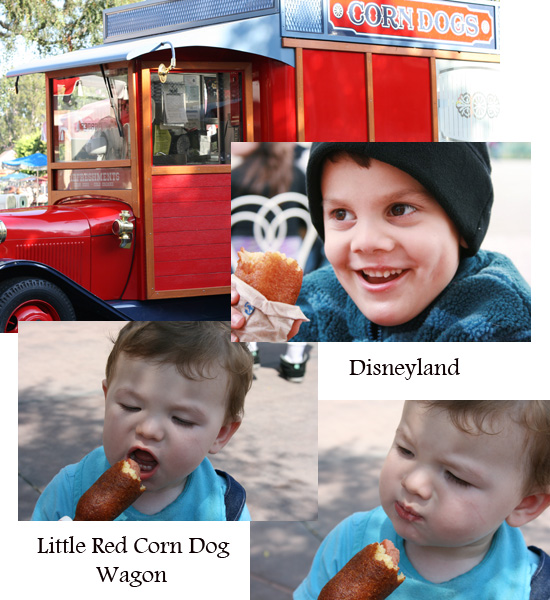 Corn dogs at Disneyland  {Saving up for Disney}