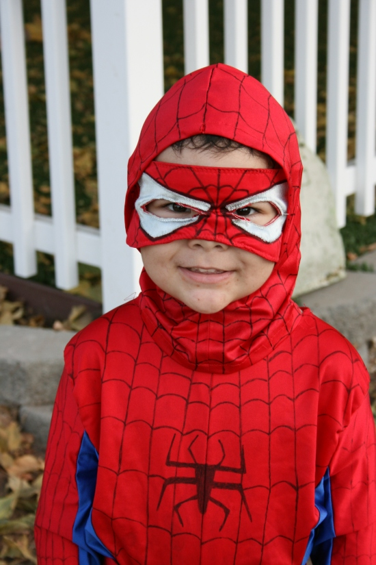 Spiderman costume on the cheap {Saving Up for Disney}