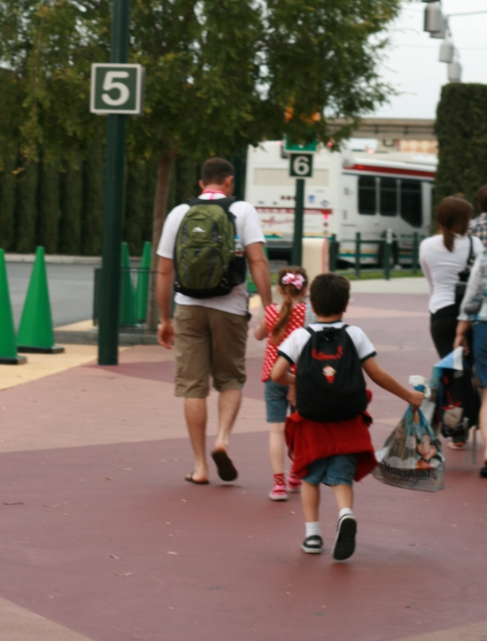 A comfortable backpack is great for carrying necessities {Saving Up for Disney}