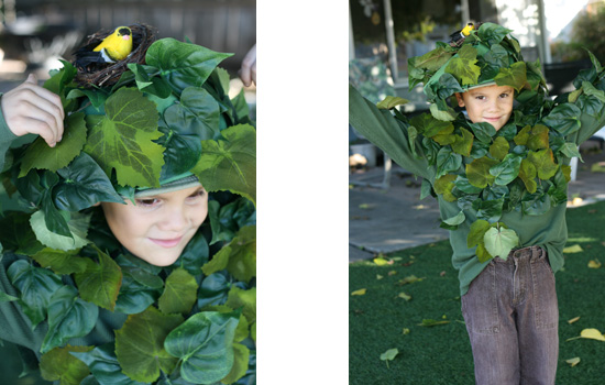 Halloween costume - A tree with a bird's nest {Saving Up for Disney}
