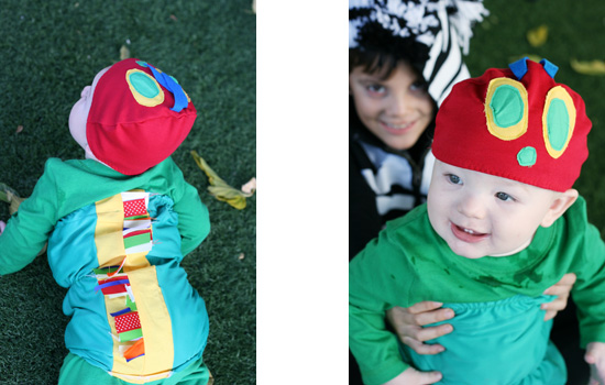 Very Hungry Caterpillar baby costume {Saving Up for Disney}