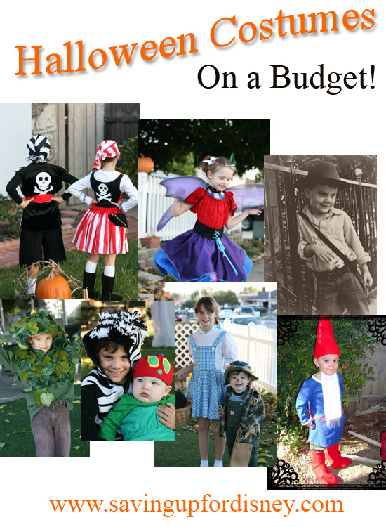 Halloween Costumes on a Budget - Tons of ideas and pictures on how to make your own and save! {Saving up for Disney}