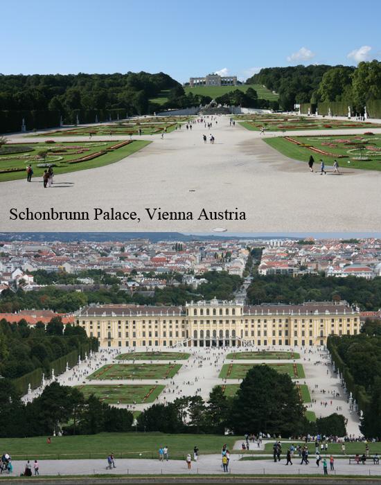 Schonbrunn Gardens in Austria