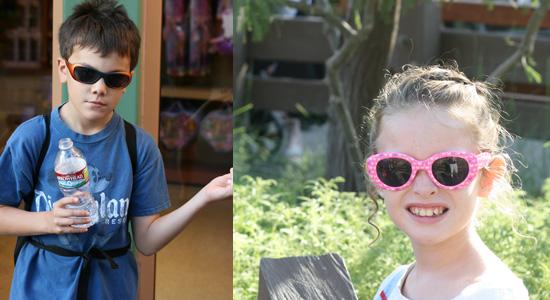 Sunglasses make hot days more bearable {Saving up for Disney}