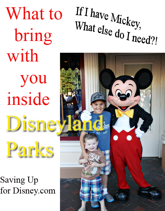 What to bring with you (and what to leave at home) - {Saving up for Disney}