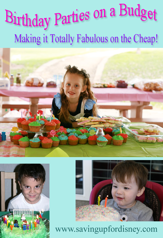 Tons of tips for hosting birthday parties on a budget!