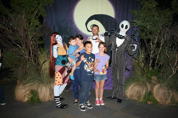 Jack & Sally at #Halloweentime at Disneyland