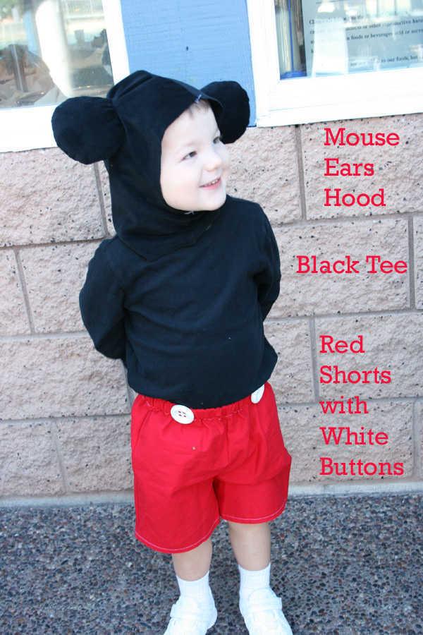 Quick & Easy DIY Mickey Mouse costume