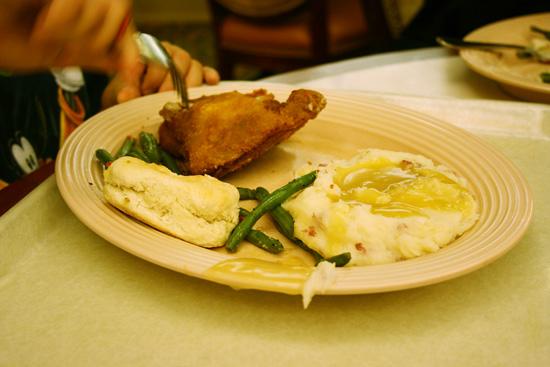 Plaza Inn chicken dinner at Disneyland