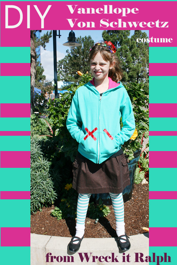 DIY Vanellope von Schweetz costume - Wreck it Ralph - #Disneybound