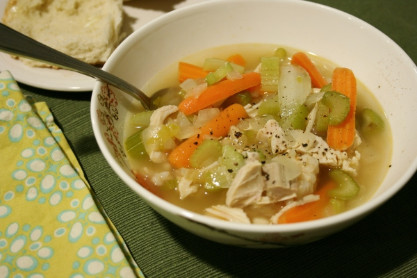 Eat at Home & Save - Recipe for using leftovers - Turkey & Rice Soup